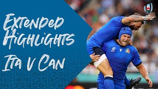 Extended Highlights: Italy v Canada - Rugby World Cup 2019