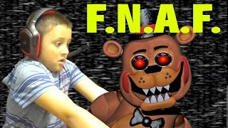 Mike & Chase play Five Nights at Freddys 2 (Face Cam with 6 & 3 Year Old)   FGTEEV MARCH 2015