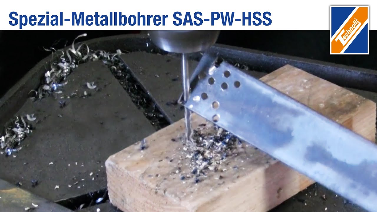 Prächtig Spezial-Metallbohrer SAS-PW-HSS   Produktfilm - YouTube #PA_32