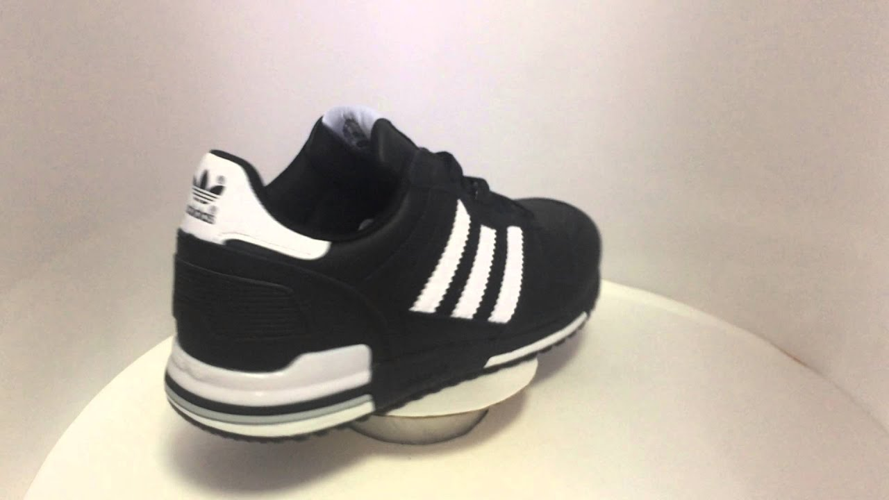 c147c9ccbe7e7 Adidas ZX 700 Black Leather Men - YouTube