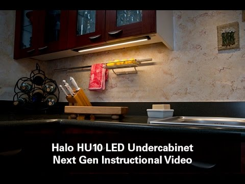 How to install halo under cabinet led lights hu10 youtube mozeypictures