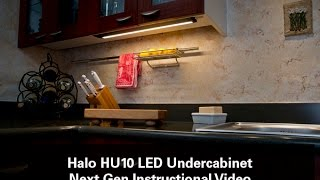 how to install halo under cabinet led lights hu10