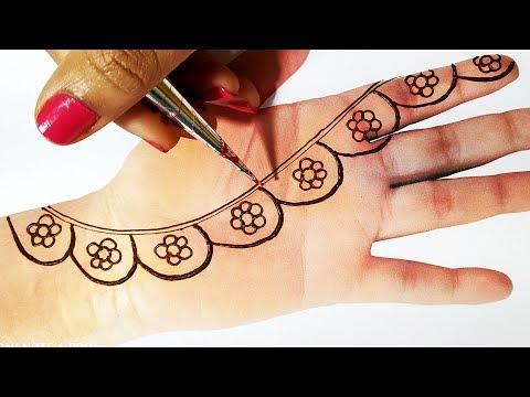 New Mehndi Trick For Gol Tikki  - Latest Mehndi for Hands - लगाएं सुंदर सी मेहँदी सभी त्योहारो पे