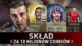 FIFA 18 l BUDOWANIE SKŁADU ZA 10 MILIONÓW + WŁASNA TAKTYKA! ft  GULLIT & RONALDO!
