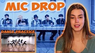 [CHOREOGRAPHY] BTS (방탄소년단) 'MIC Drop' Dance Practice - REACTION [GENA VLOGS]