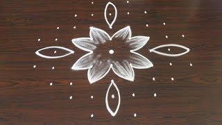 Video new lotus kolam designs with 9 dots * easy rangoli * simple muggulu 2018 download MP3, 3GP, MP4, WEBM, AVI, FLV September 2018