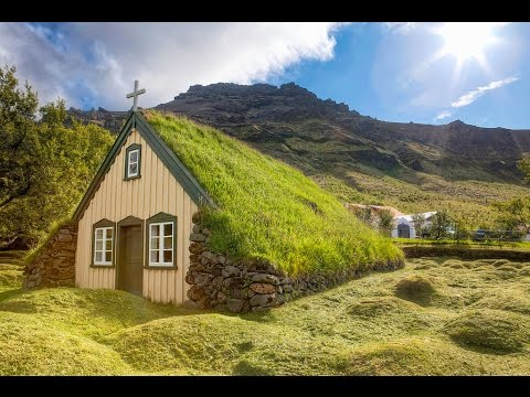 Iceland travel : Hof village
