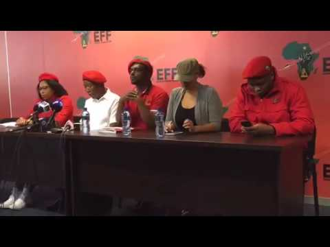 "EFF - Press Conference Malema ""terrible mistake"" voting for Mkhwebane to become Public Protector.."