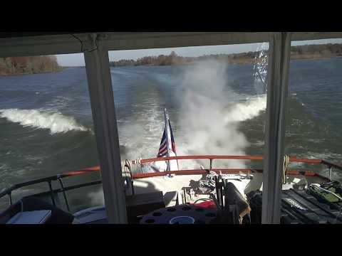 We were skinny dipping on the Tenn Tom .... Fulton MS to Columbus MS - Great Loop travels