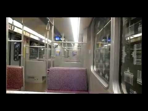 U- Bahn  Mitfahrt alleine im F- Zug Wagen 2872 U7 Halemweg - Rohrdamm
