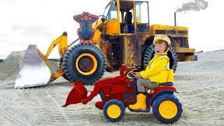 Senya Helps Excavate Broken Tractor