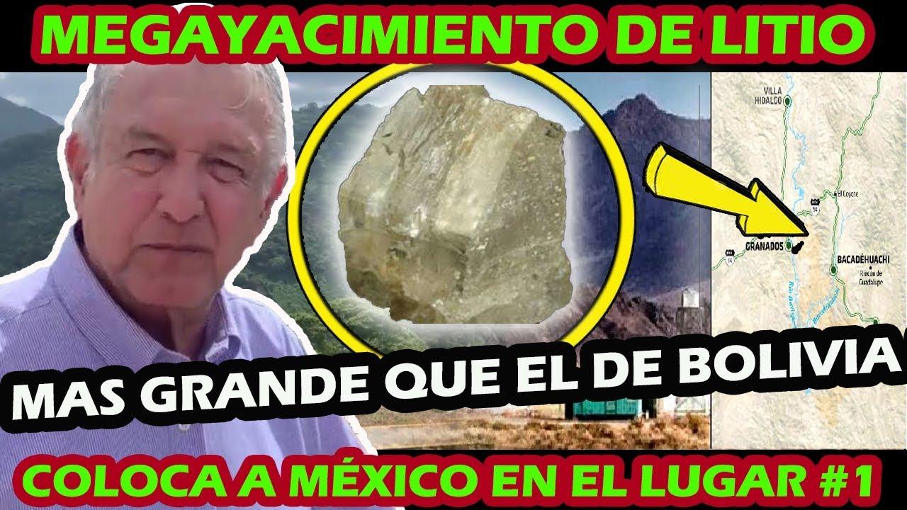 COMPROBADO ! MEXICO TIENE EL MAYOR YACIMIENTO DE LITIO EN EL MUNDO DEJA  ATRAS A BOLIVIA - YouTube