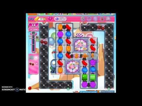 Candy Crush Level 1708 help w/audio tips, hints, tricks