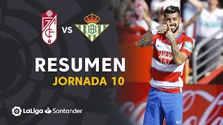 Resumen de Granada CF vs Real Betis (1-0)
