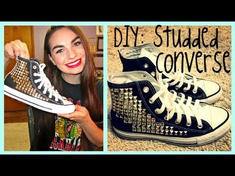 6985a542657b DIY  Tumblr Inspired Studded Converse - YouTube
