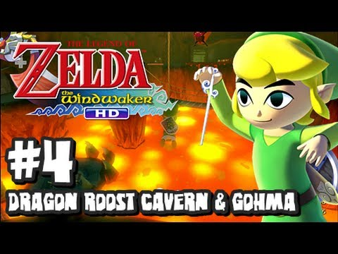 The Legend of Zelda Wind Waker HD Wii U - (2048p) Part 4 - Dragon Roost Cavern & Gohma