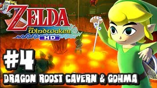 The Legend of Zelda Wind Waker HD Wii U - (2048p) Part 4 - Dragon Roost Cavern & Gohma