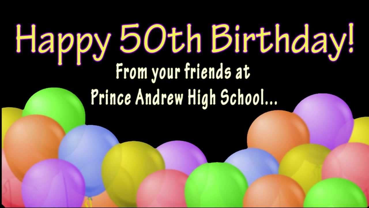 Free Happy 50th Birthday Images