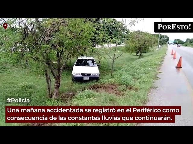 Múltiples accidentes en el Periférico ocasionados por las lluvias