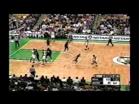 Allen Iverson Highlights vs. the Boston Celtics (2001) *AI hustling on the court and getting injured
