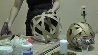 Большие новогодние шары из полосок картона(, 2012-12-29T07:57:19.000Z)