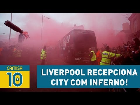 Pressão! Torcida Do LIVERPOOL Recepciona CITY Com INFERNO!