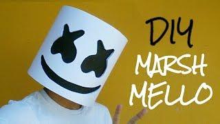 Cómo hacer una máscara casco de Marshmello con papel opalina | Momuscraft