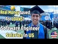Software Engineer Salaries in USA | Money Saved To Payback LOANS