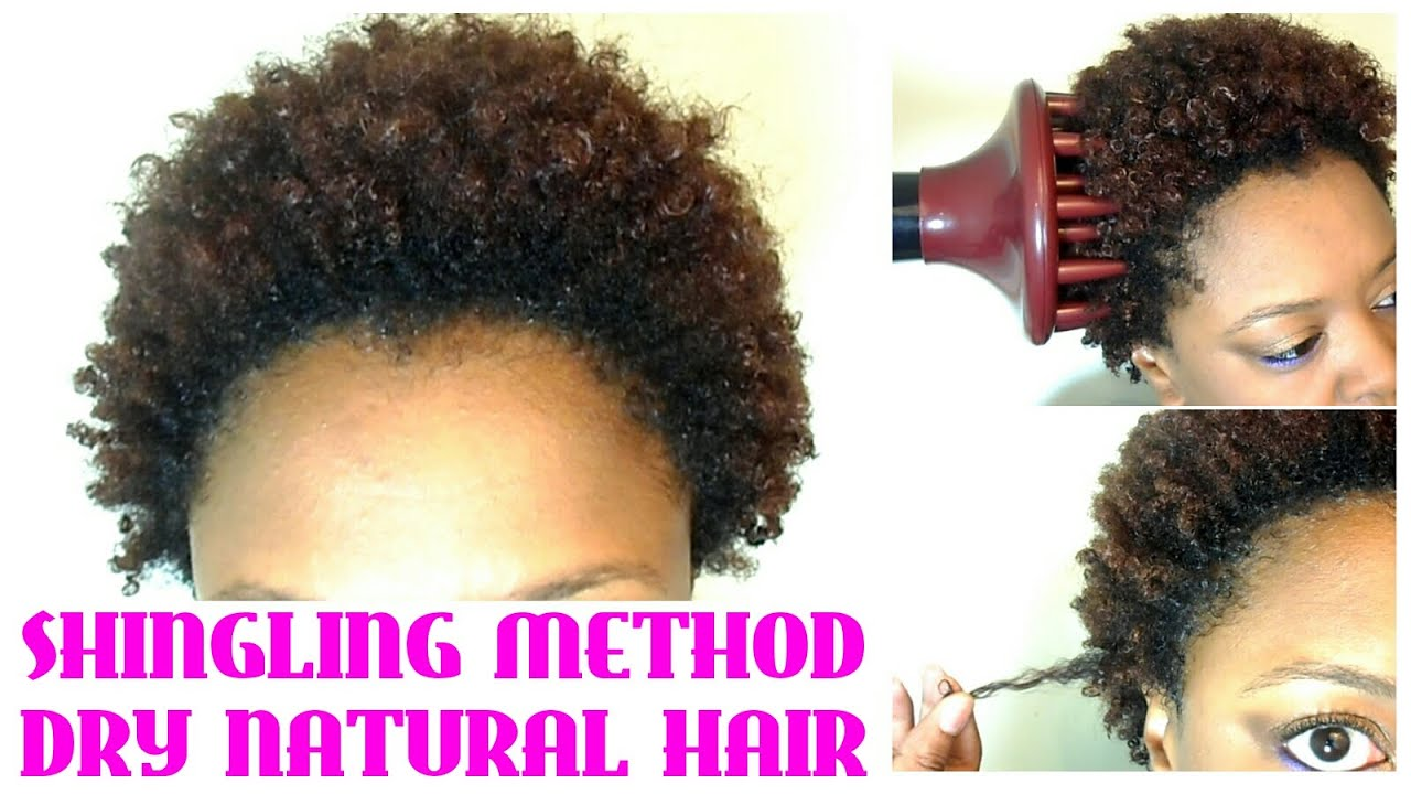 No Wash Define And Go On Short Natural Hair Using The Shingling