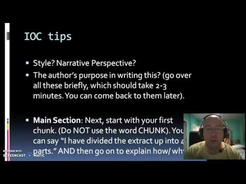 IB English A: The IOC - how to structure your commentary.