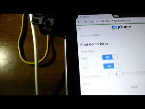 Servo and LEDs control web app for the RaspberryPI, built with Django and jQuery Mobile