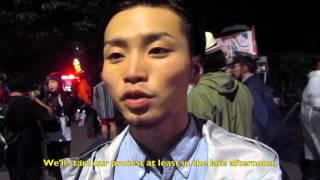 SEALDs 奥田愛基:参院平和安全特別委員会強行採決をうけて(2015/9/17) Japan's student protester against the military bills