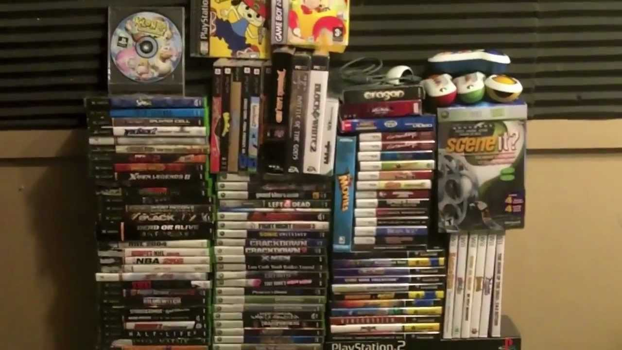 Moxxi Video Game Lot eBay Auction - 134 New & Used Games PS3 Xbox 360 PS2 PSP DS GBA PSP - YouTube