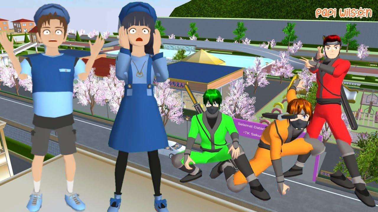 Download Mio Dan Yuta Menjemput Adik Anto UwekUwek Dikejar Preman🤣😱   Sakura School Simulator   Papi Wilson