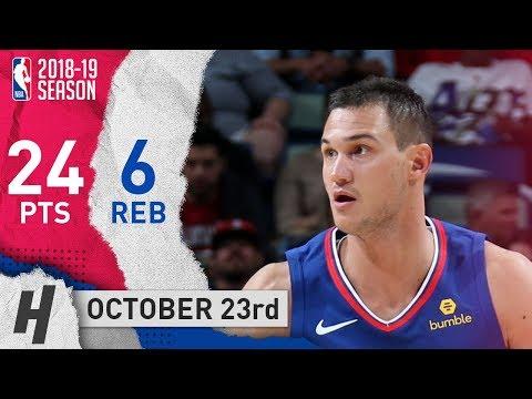 Danilo Gallinari Full Highlights Pelicans vs Clippers 2018.10.23 - 24 Pts, 6 Reb!