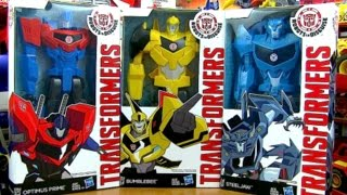 Wave 1 - Titan Heros Transformers Robots In Disguise Toys - Steeljaw, BumbleBee, Optimus Prime
