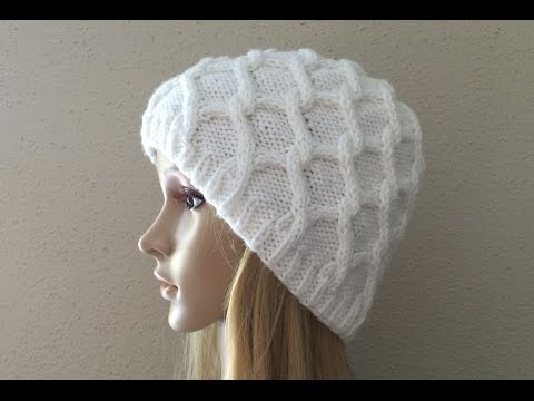 How To Knit A Diamond Cable Hat, Lilu's Handmade Corner Video # 7