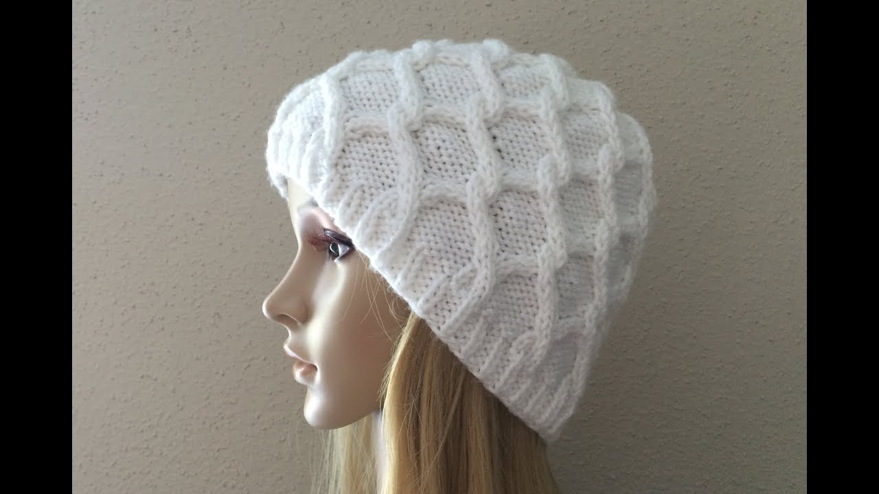 How To Knit A Diamond Cable Hat f85853033d1