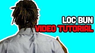 37 dreadlock loc bun video tuturial cedlocks