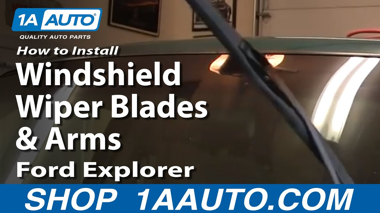 How to install replace windshield wiper blades and arms for 1995 ford explorer window motor replacement