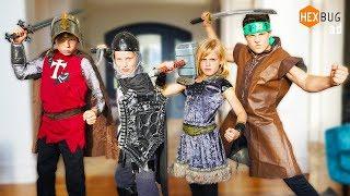 MICRO TITANS Ninja Kidz Battle! New Hexbug Toy!