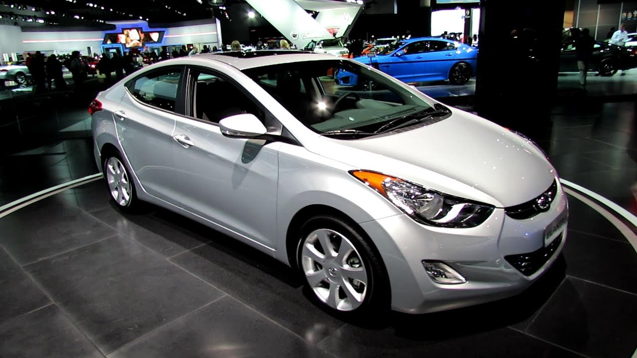 2013 Hyundai Elantra Limited   Exterior And Interior Walkaround   2012 Los  Angeles Auto Show   YouTube