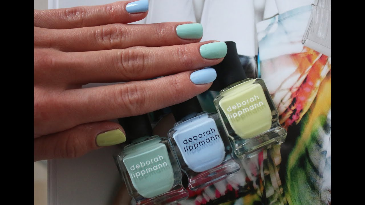 Deborah Lippmann - Spring pastel polishes swatches - YouTube