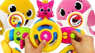 Pinkfong Baby Shark Driving play! Baby sharks drive the Pinkfong Melody Bus~!  #PinkyPopTOY