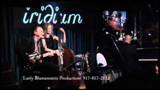 Mary Huang introduces Lou Pallo at the Iridium Jazz Club