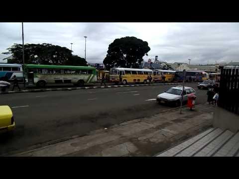Afternoon traffic Suva Fiji