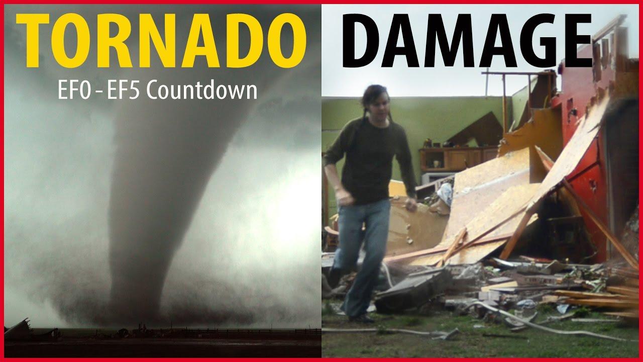 Tornado Damage Countdown Ef0 To Ef5