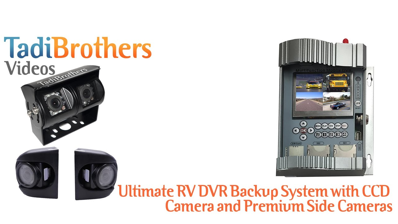 4 Backup Cameras System with Mobile DVR for Commercial Vehicles ...