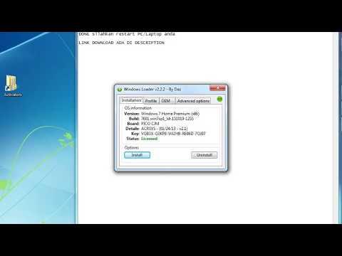 WINDOWS LOADER V2.2.2 By Daz No Virus FREE Download 100% WORK (LINK REUPLOAD)
