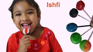 Ishfi Learn color with Lollipop and Finger Family Song